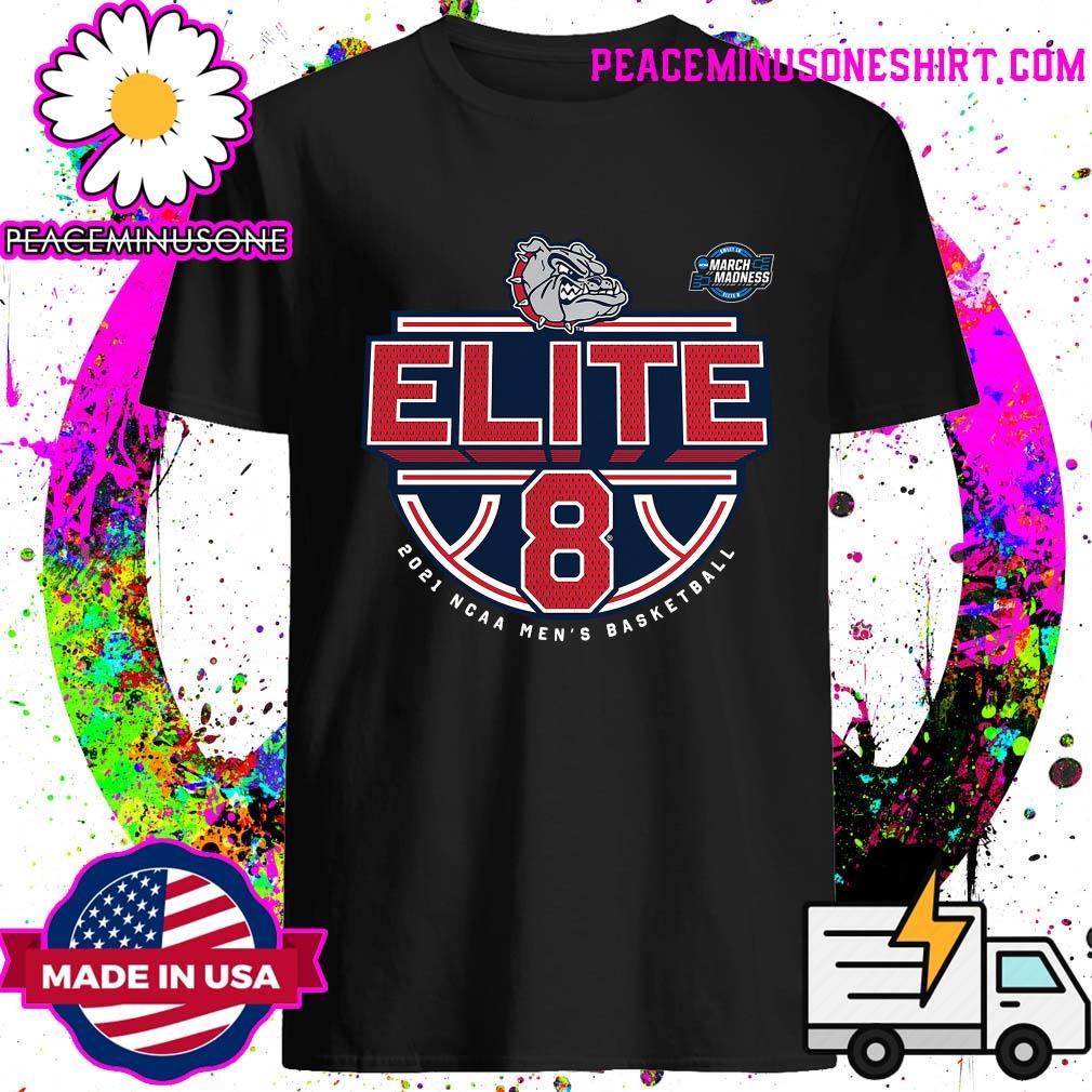 Official 2021 NCAA Men's Basketball Tournament March Madness Elite 8 Bound Tri-Blend Of The Gonzaga Bulldogs Shirt