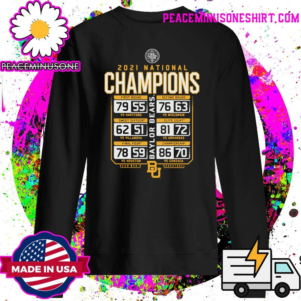 Offiicial Baylor Bears 2021 NCAA Men's Basketball National Champions Posterize Schedule T-Shirt Sweater
