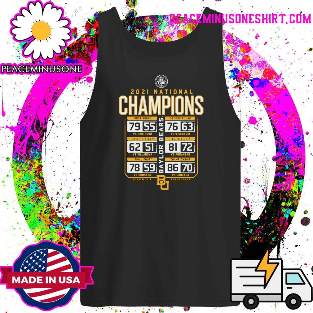 Offiicial Baylor Bears 2021 NCAA Men's Basketball National Champions Posterize Schedule T-Shirt Tank-Top