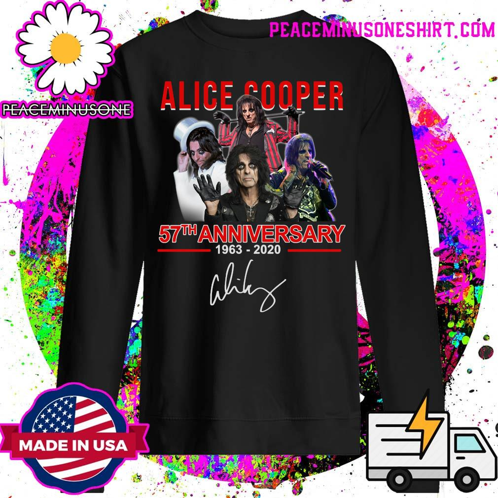 Alice Cooper 57th anniversary 1963 2020 signatures s Sweater