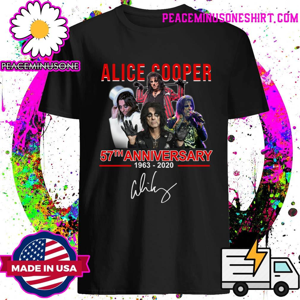 Alice Cooper 57th anniversary 1963 2020 signatures shirt