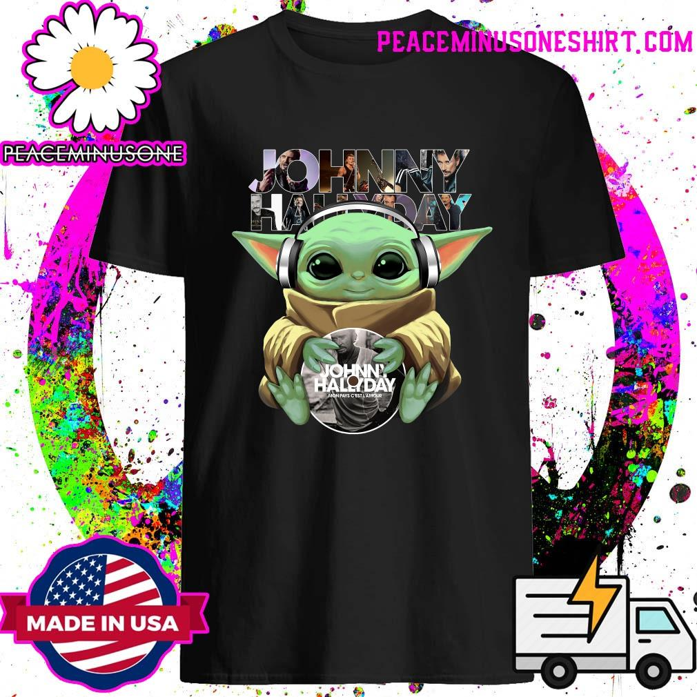 Baby Yoda Johnny Hallyday Shirt