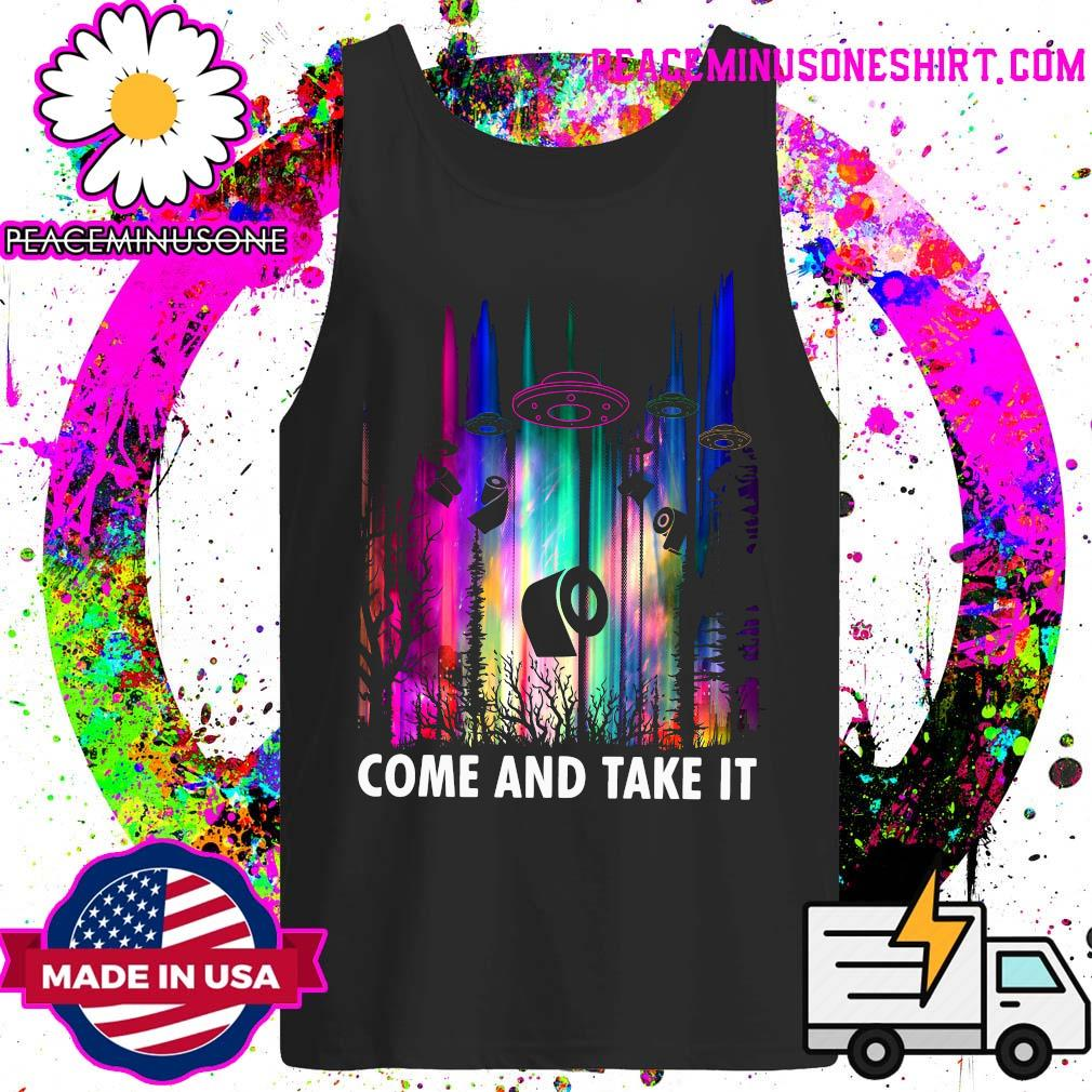 Come And Take It UFO Paper Shirt Tank-Top