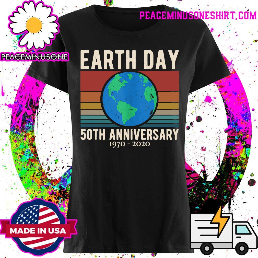 Earth Day 50th anniversary 1970 2020 vintage s Ladies