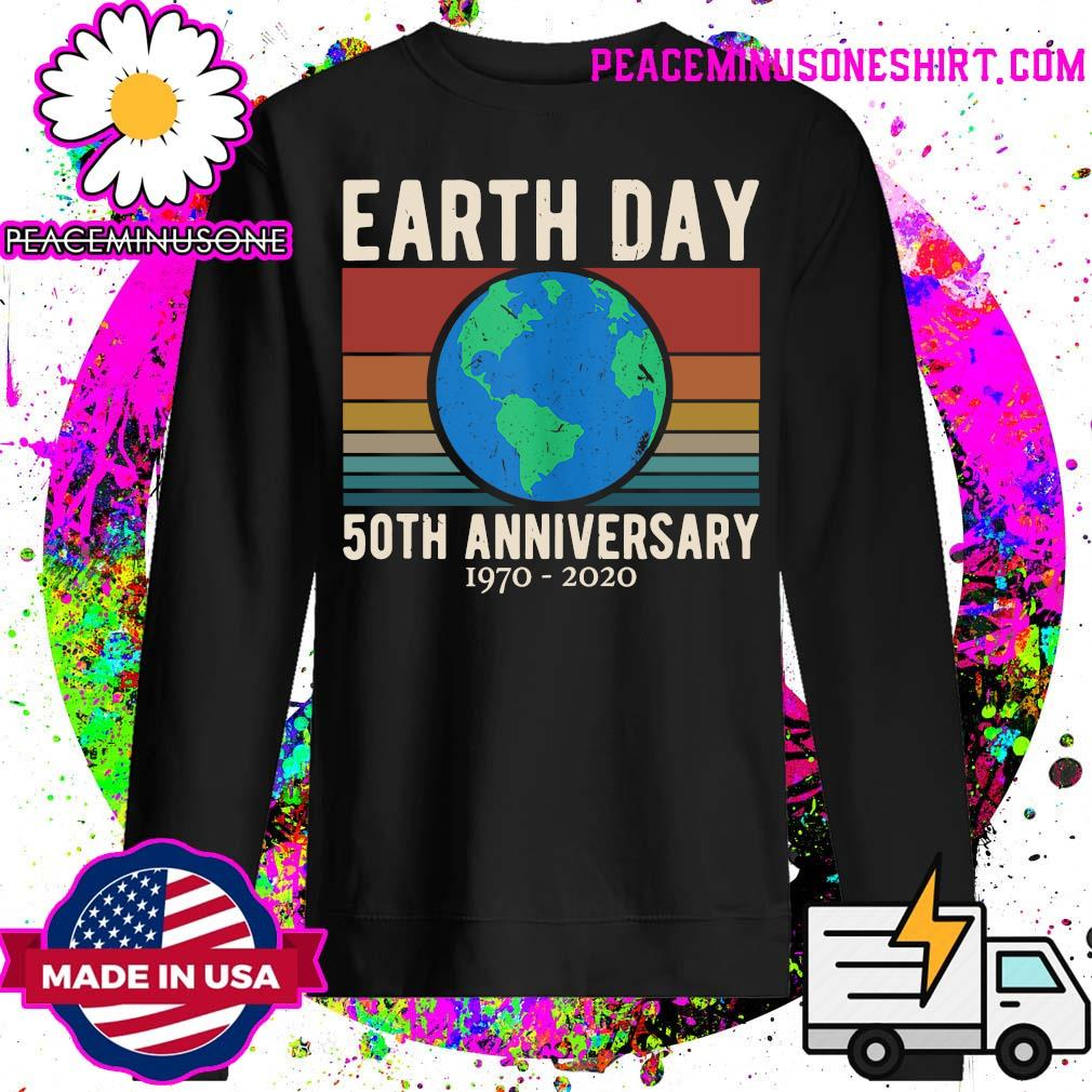 Earth Day 50th anniversary 1970 2020 vintage s Sweater