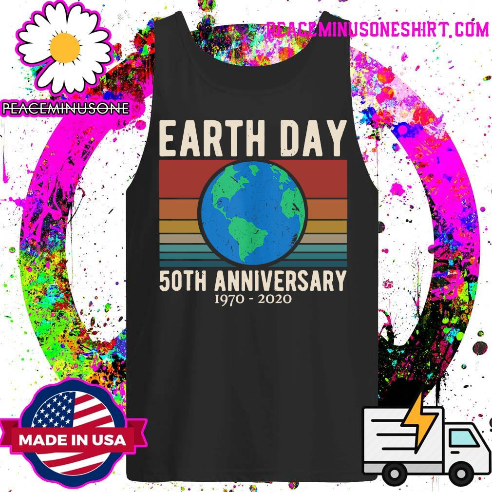Earth Day 50th anniversary 1970 2020 vintage s Tank-Top