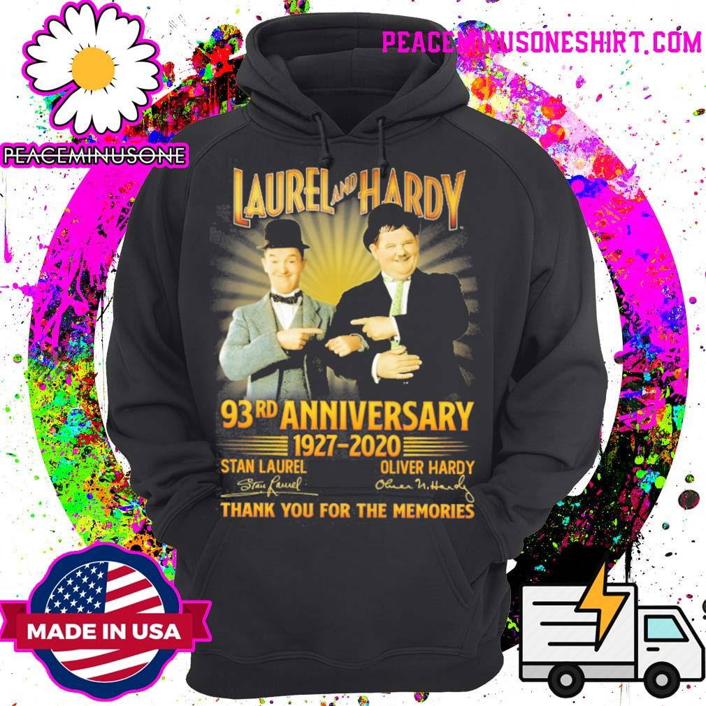 Laurel and Hardy 93rd Anniversary 1927 2020 signatures thank you for the memories s Hoodie