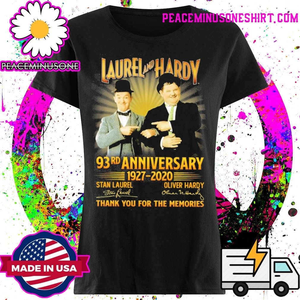 Laurel and Hardy 93rd Anniversary 1927 2020 signatures thank you for the memories s Ladies