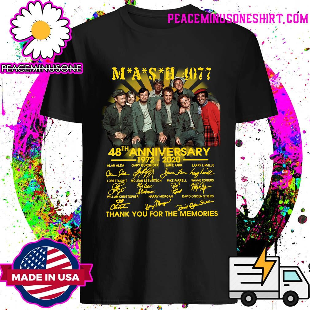 Mash 4007 48th anniversary 1972 2020 thank you for the memories shirt