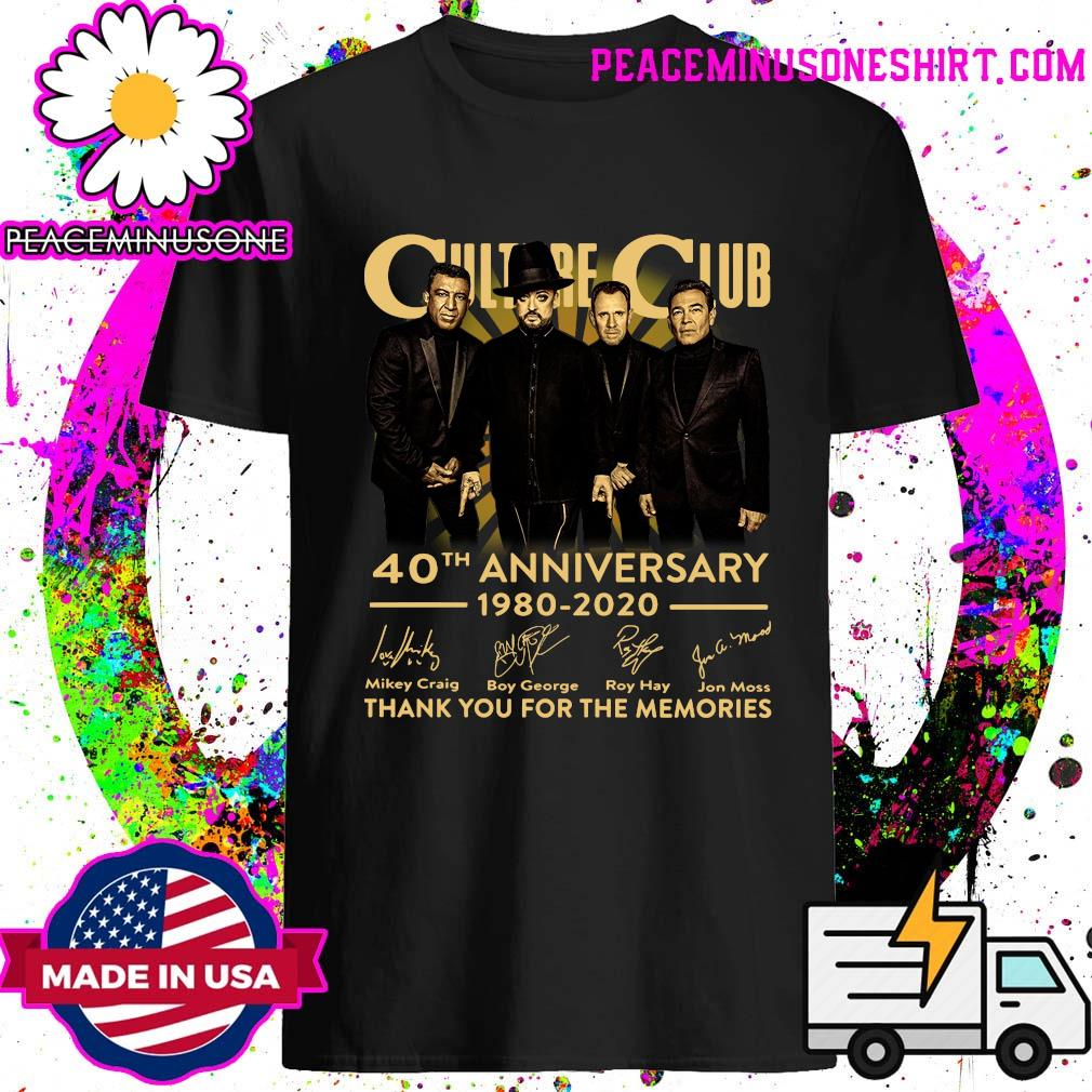 Culture Club 40th Anniversary 1980 2020 Thank You For The Memories Signatures Shirt