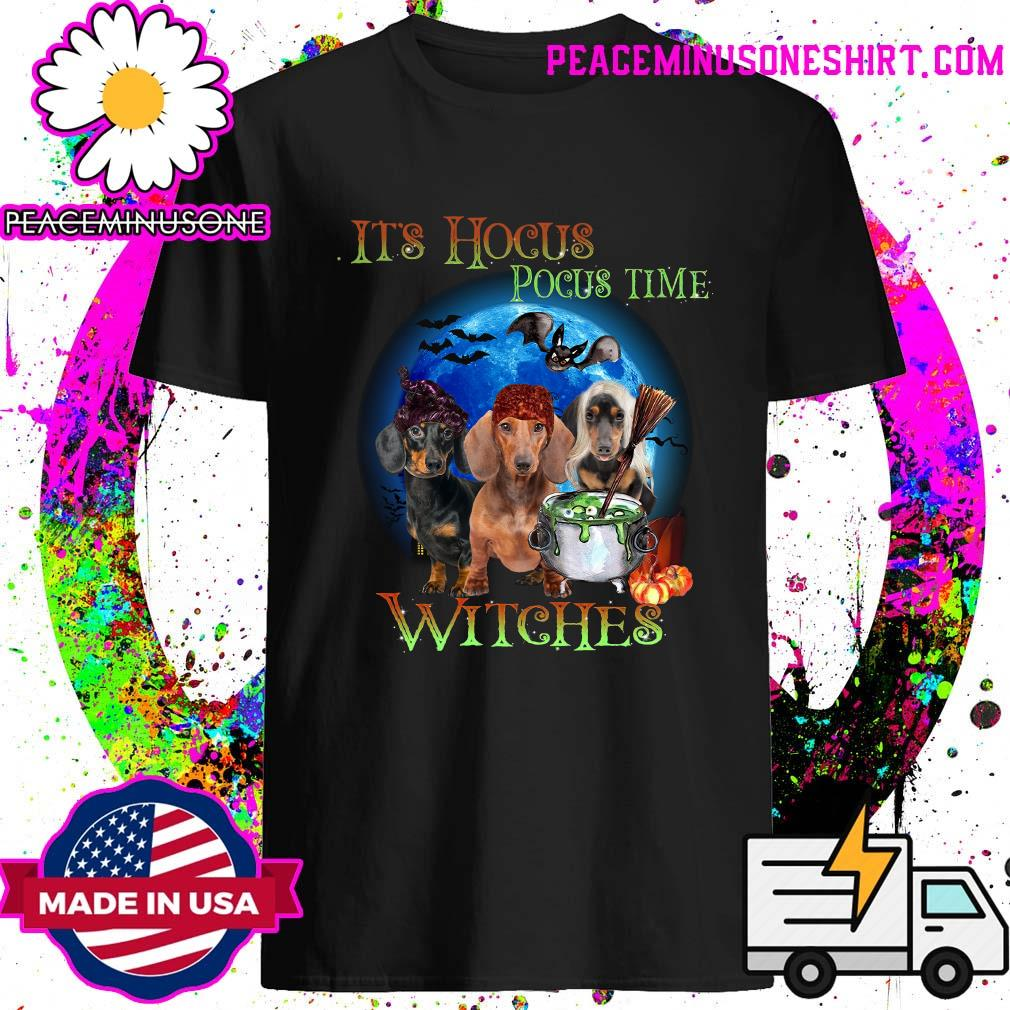 Dachshund It's Hocus Pocus Witches Halloween Shirt