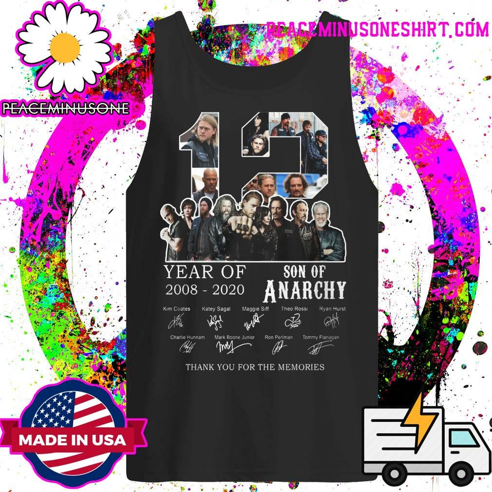 12 year of Son Of Anarchy 2008 2020 signatures thank you for the memories s Tank-Top
