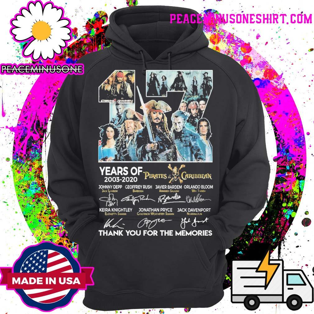 17 years of Pirates of the Caribbean signatures thank you for the memories s Hoodie