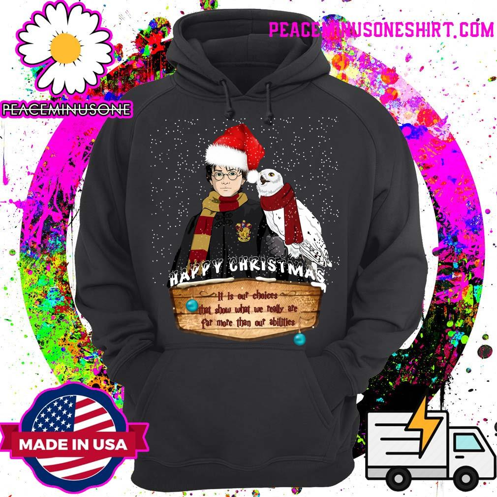 Peaceminusoneshirt Harry Potter Happy Christmas It Is Our Choices That Show Shirt Official Dilly Dilly Shirts
