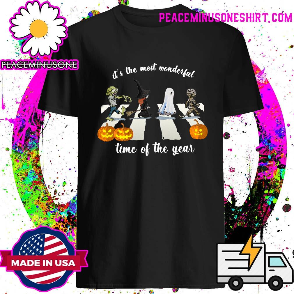 Zombie Abbey Road It_s The Most Wonderful Time Of The Year Halloween Shirt