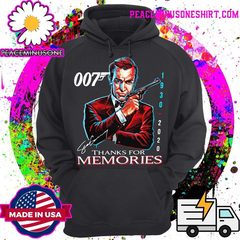 007 Sean Connery 1930 2020 Thank You For The Memories Signature Shirt Hoodie