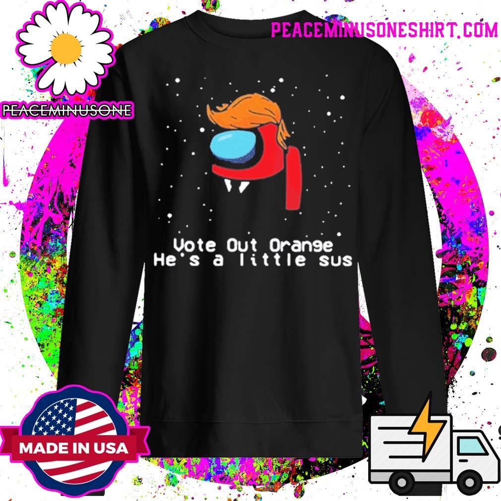 Among Us Trump vote out orange he's a little sus Christmas s Sweater