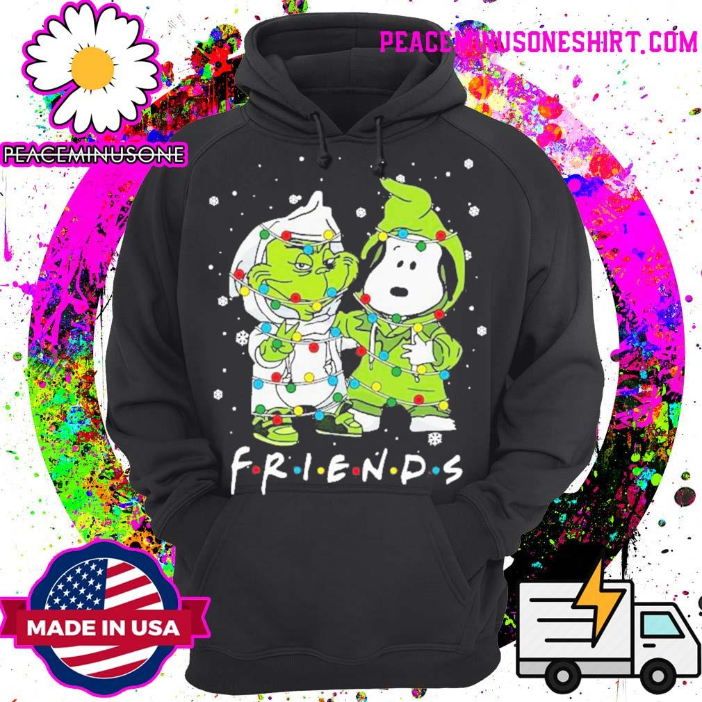 Baby grinch and snoopy friends merry christmas light s Hoodie