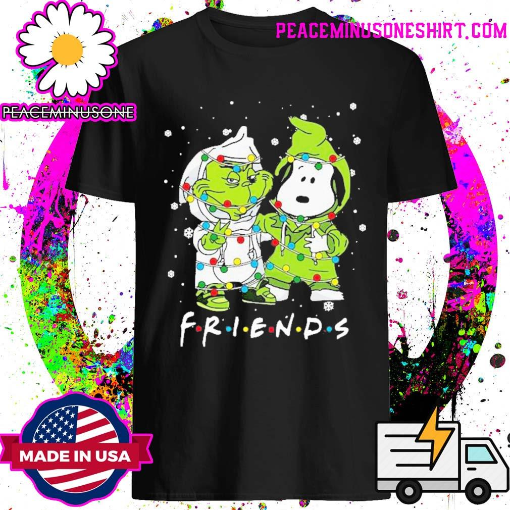 Baby grinch and snoopy friends merry christmas light shirt