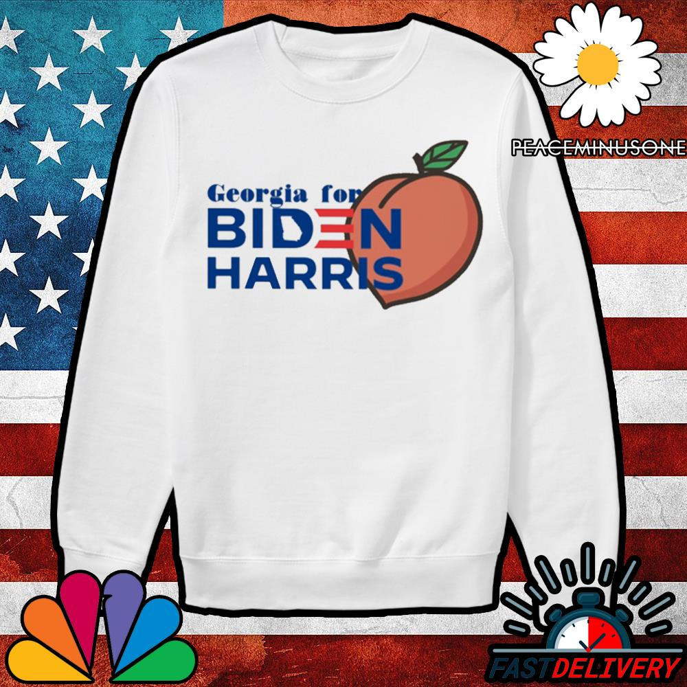 Georgia for Biden Harris peach s Sweater