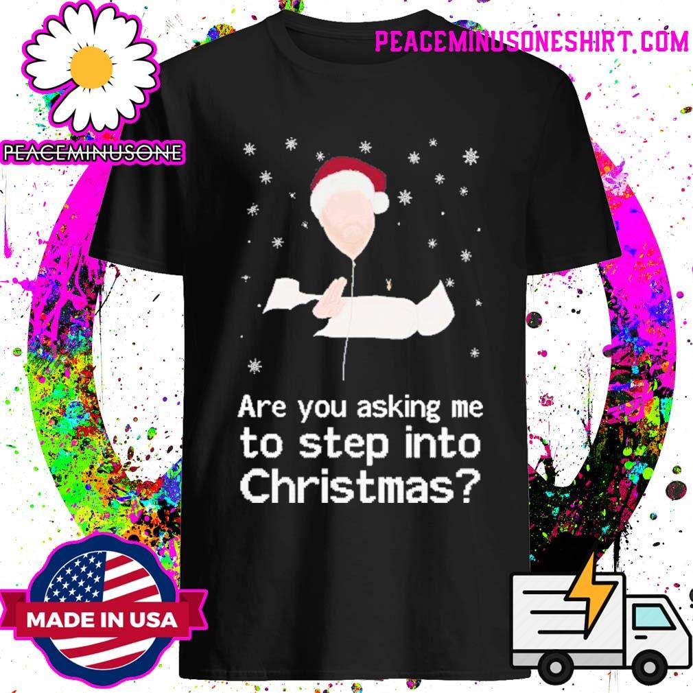 James corden are you asking me to step into christmas shirt
