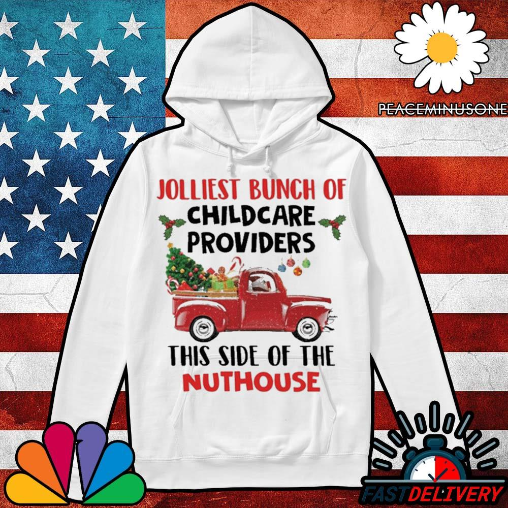 Jolliest bunch of childcare providers this side of the nuthouse Christmas s Hoodie