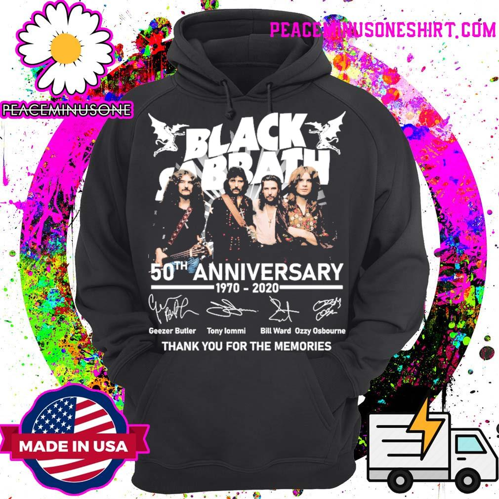 Official Black Sabbath 50th anniversary 1970 2020 signatures thank you for the memories s Hoodie