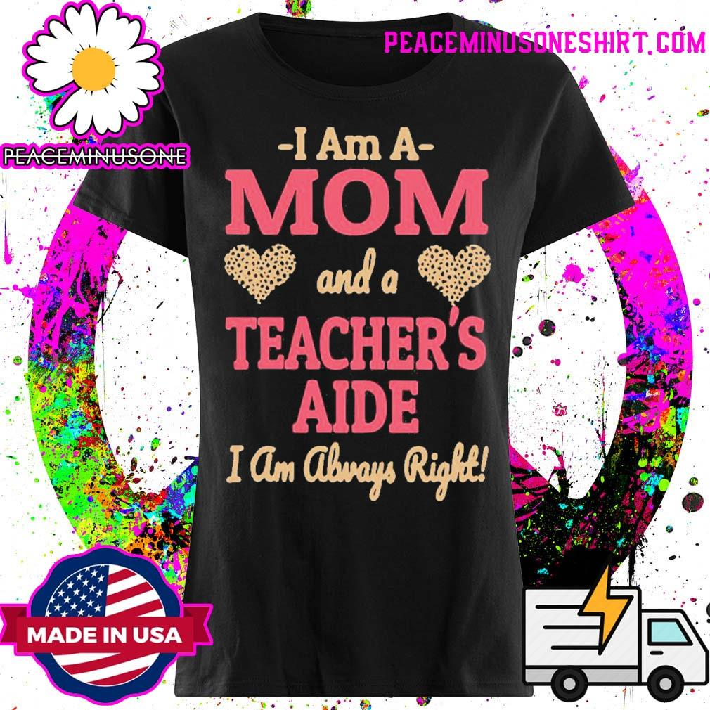 Official mom teachers aide leopard print hearts s Ladies
