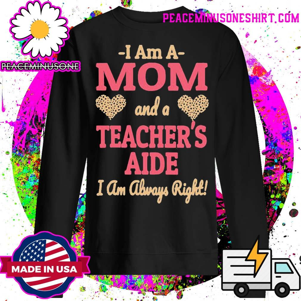 Official mom teachers aide leopard print hearts s Sweater