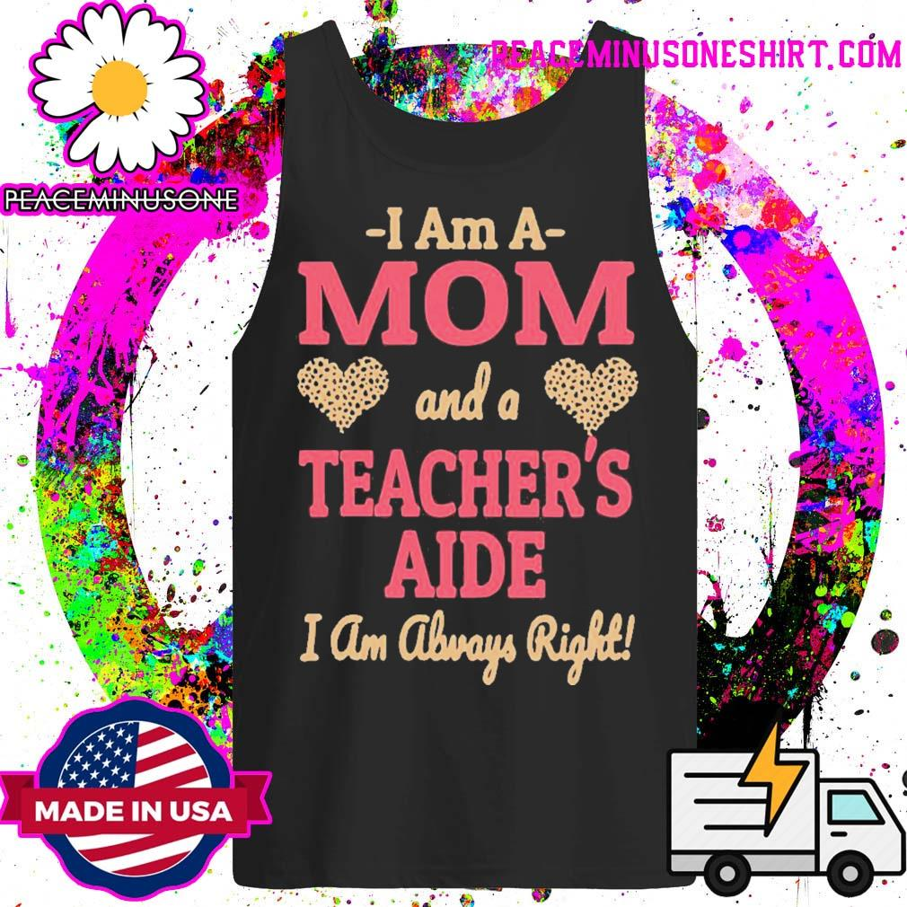Official mom teachers aide leopard print hearts s Tank-Top