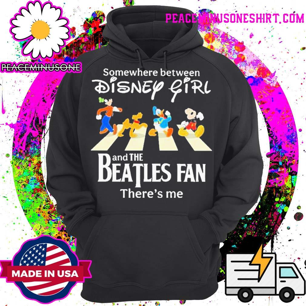 Somewhere between disney girl abbey road and the beatles fan there's me s Hoodie