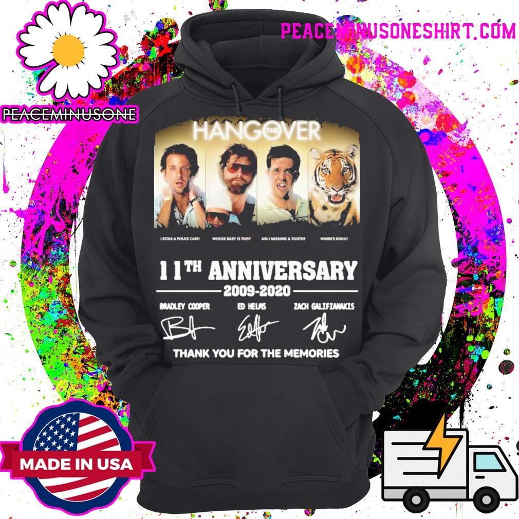 The Hangover 11th anniversary thank you for the memories signatures s Hoodie