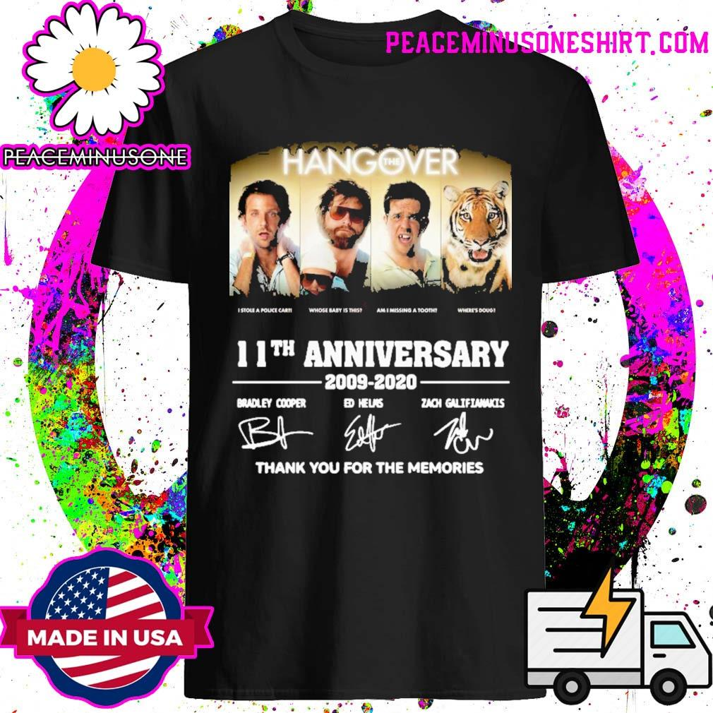 The Hangover 11th anniversary thank you for the memories signatures shirt