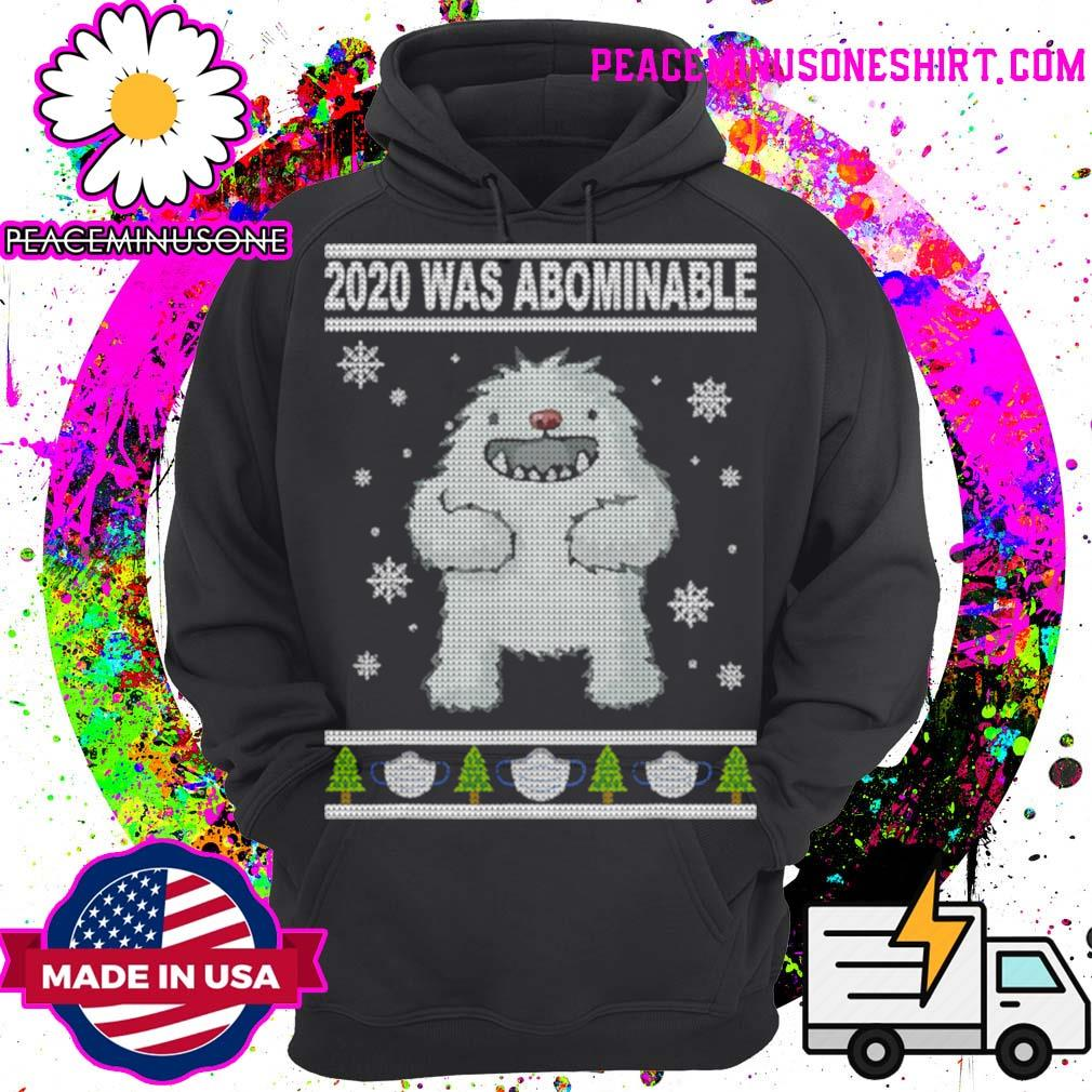2020 Was Abominable Yeti Christmas Tree Face Mask s Hoodie