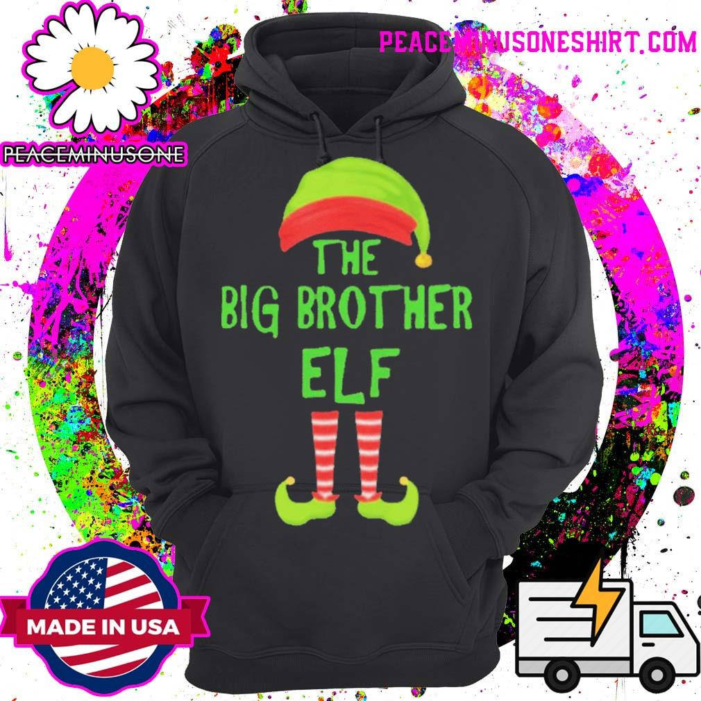Big brother elf matching family christmas party pajama s Hoodie