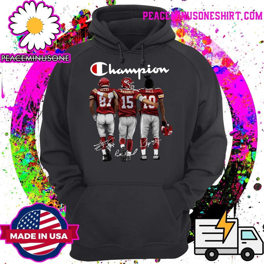 Champion Kelce Mahomes Hill signatures s Hoodie