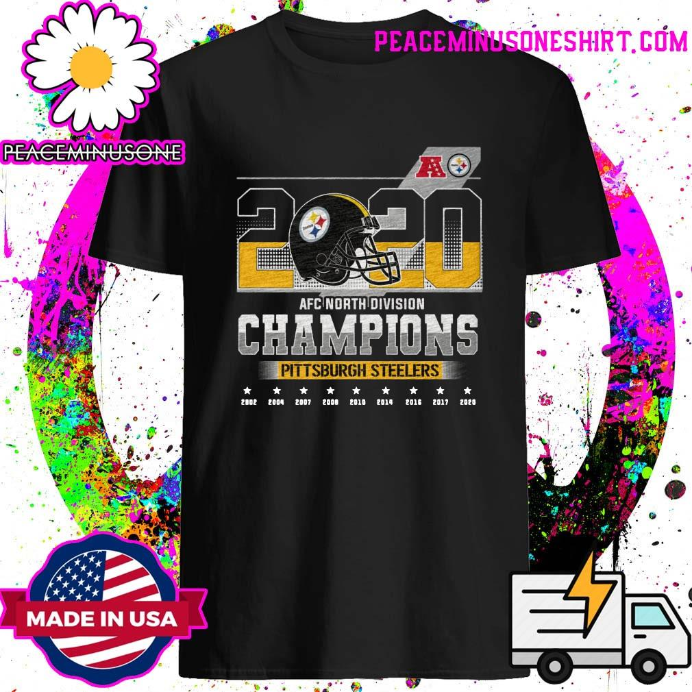 2020 Afc North Division Champions 2020 Pittsburgh Steelers 2002 2004 2007 2008 Shirt