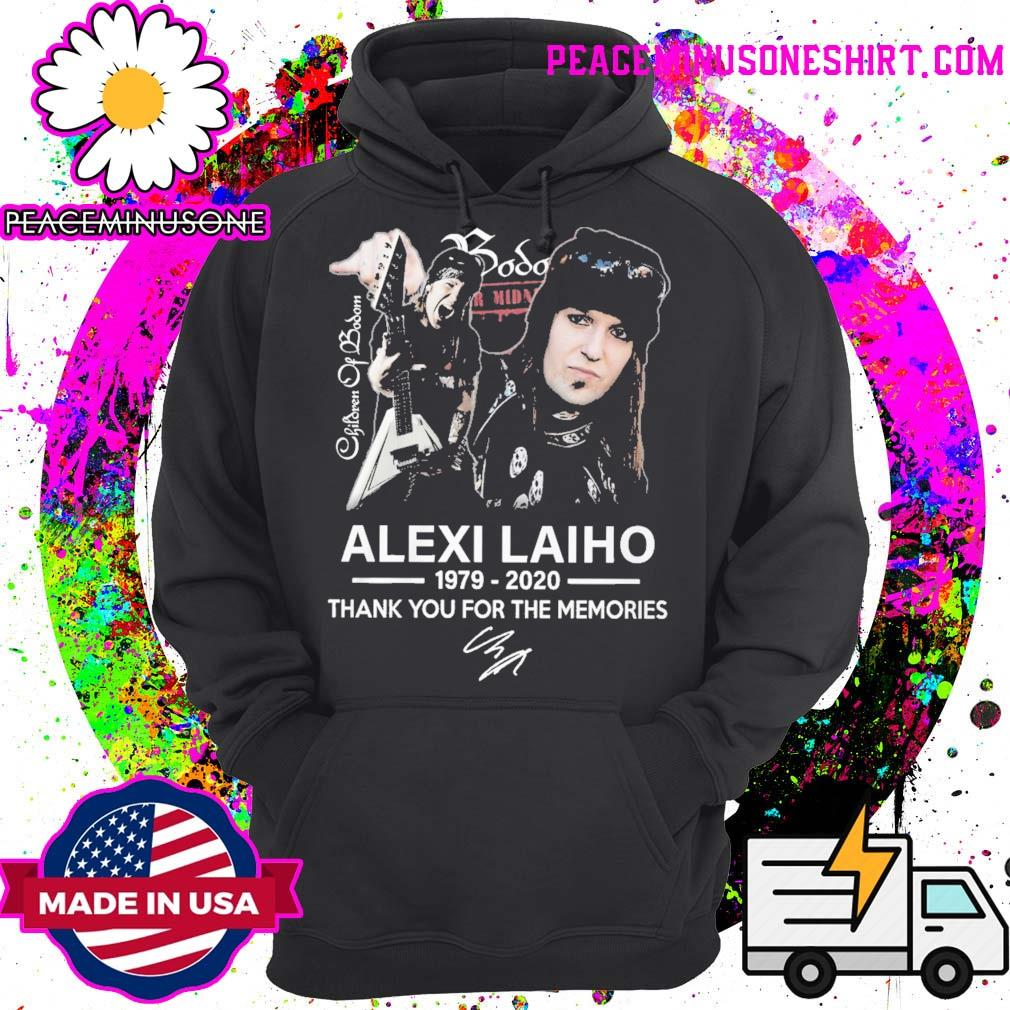 Children of Bodom Alexi Laiho 1979 2020 thank you for the memories signature s Hoodie