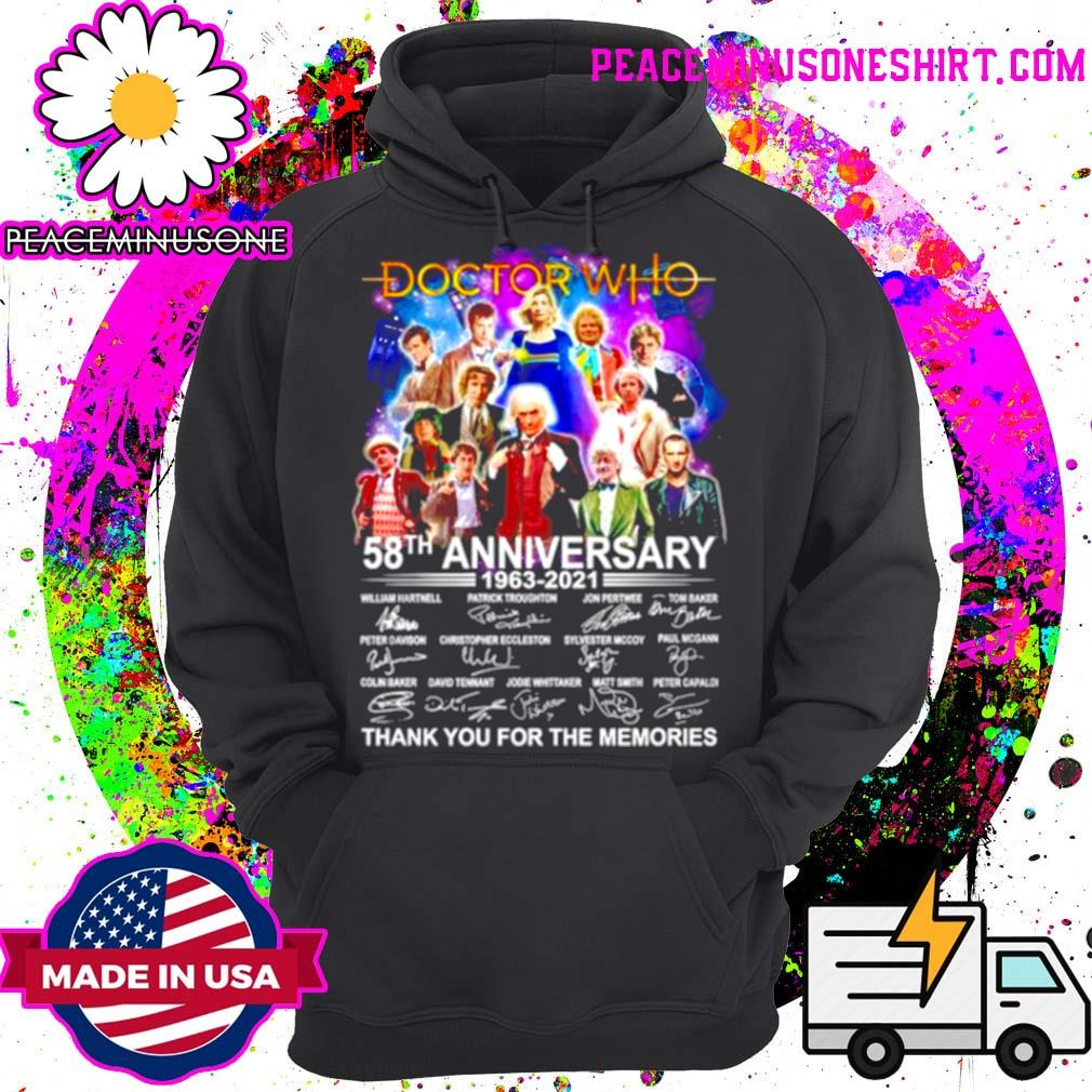 Doctor who 58Th anniversary 1963 2021 signature thank you for the memories s Hoodie