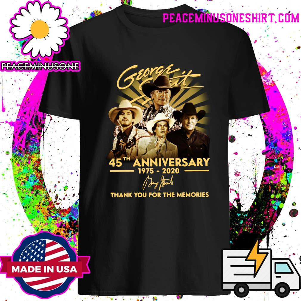 George Strait 45th Anniversary 1975 2020 Thank You For The Memories Signature Shirt