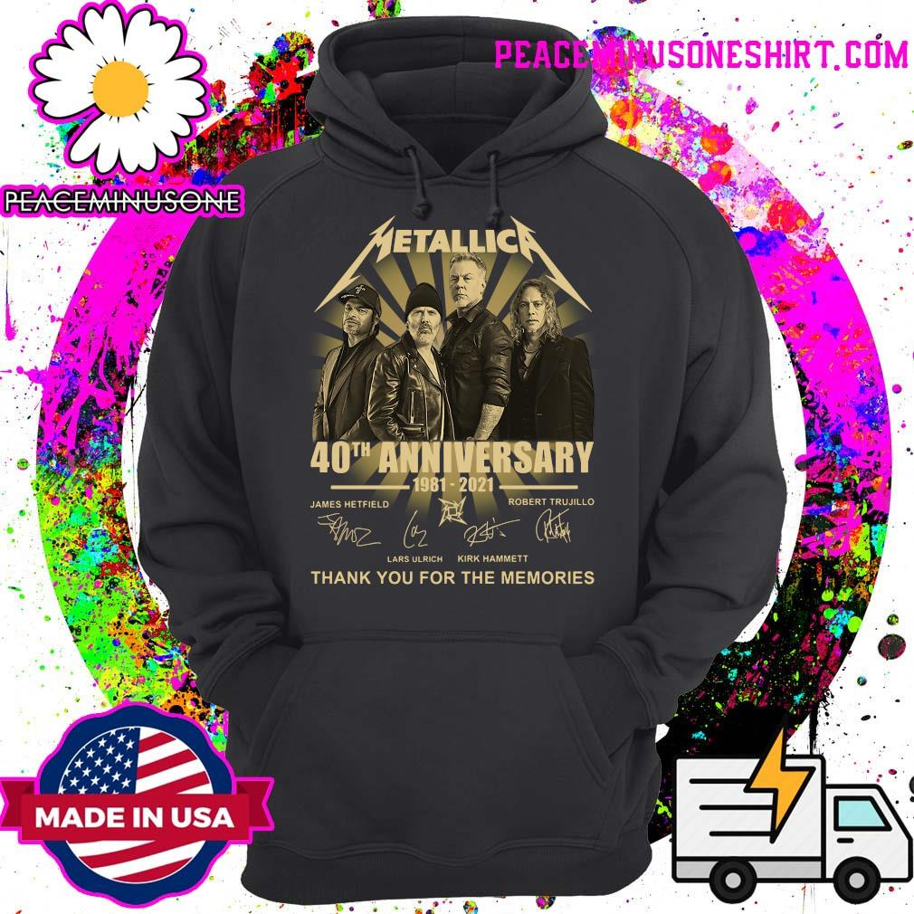 Metallica 40th Anniversary 1981 2021 Thank You For The Memories Signatures T-Shirt Hoodie