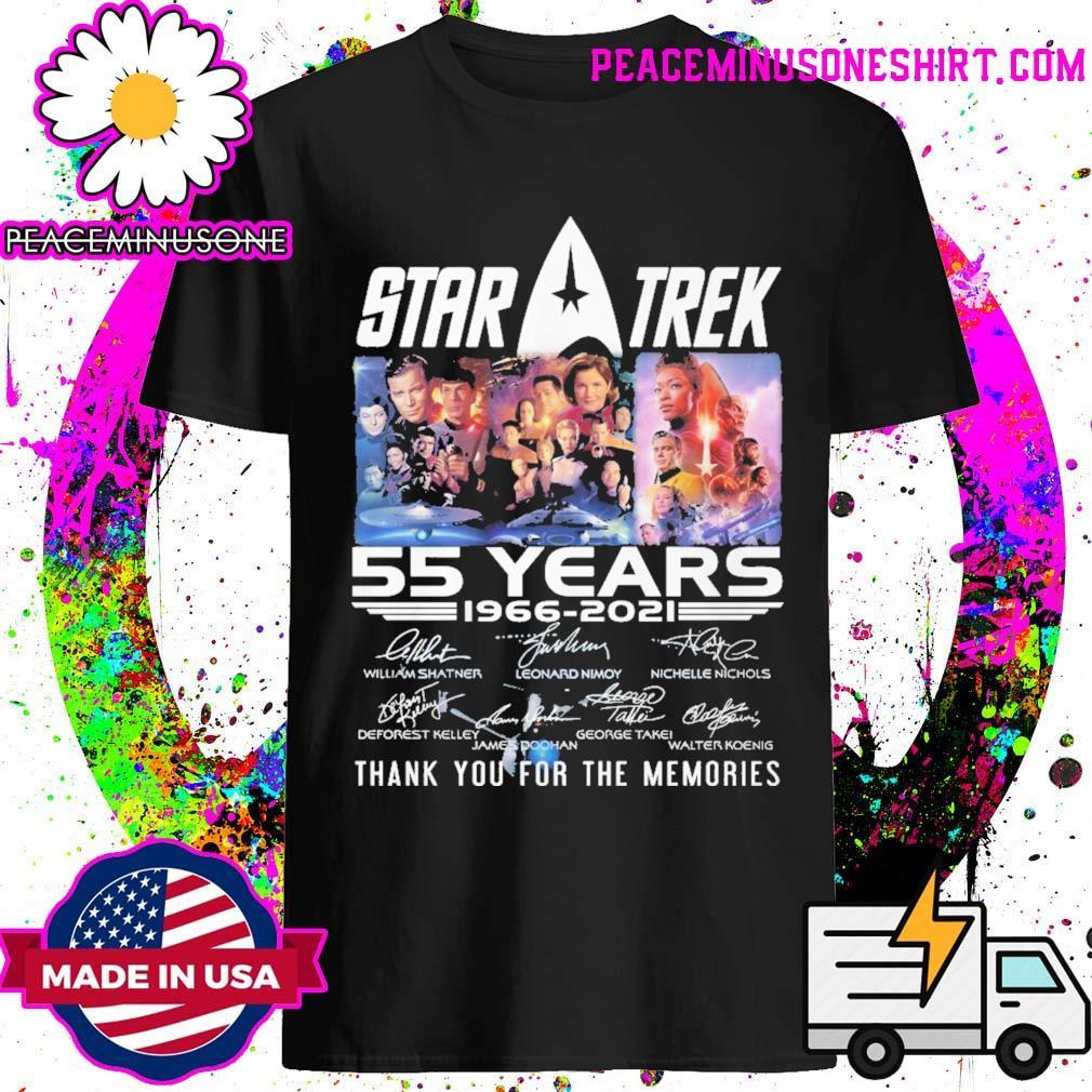 Star Trek 55 years 1966 2021 signatures thank you for the memories shirt