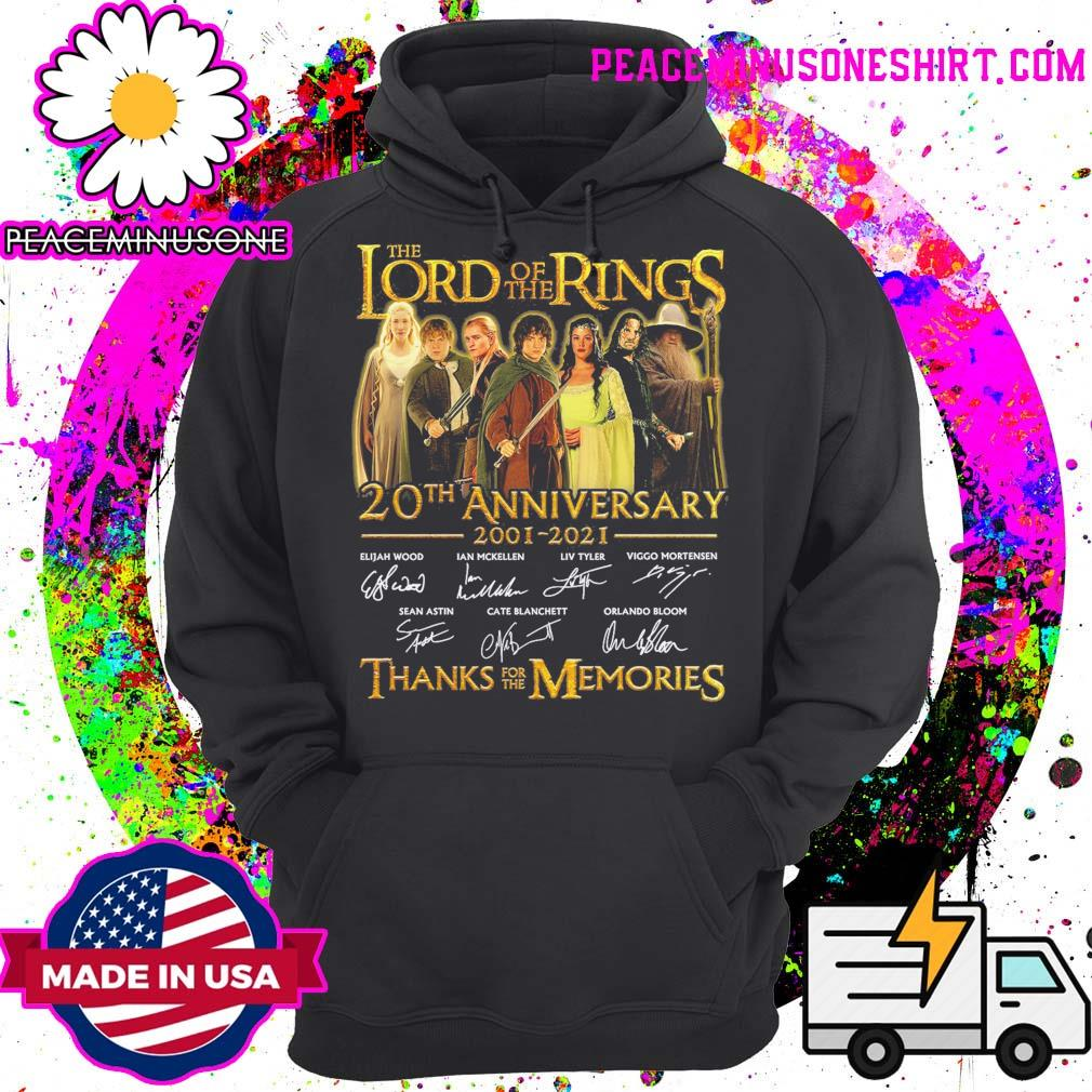 The Lord of the Rings 20th anniversary 2001 2021 signatures thanks for the memories s Hoodie