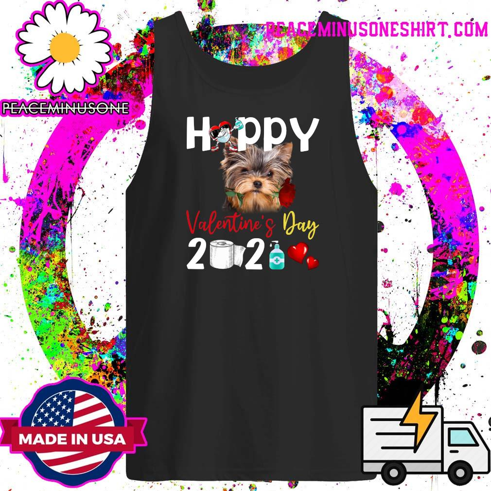 Yorkshire Terrier Happy Valentine's Day With Toilet Paper 2021 Shirt Tank-Top
